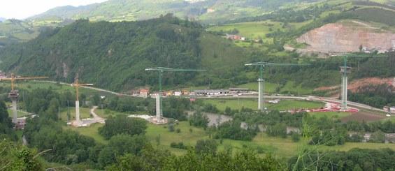 Wiadukt Narcea w Asturii, Hiszpania