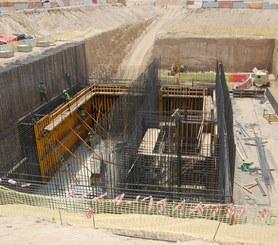 Główny budynek przepompowni ścieków w Jebel Ali w Dubaj, Zjednoczone Emiraty Arabskie