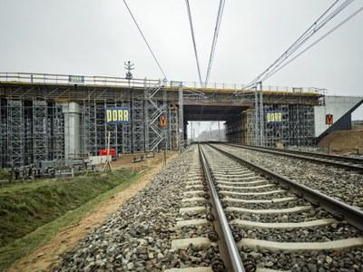 Budowa największego wiaduktu na odcinku Mława - Strzegowo  w ciągu nowo powstającej S7