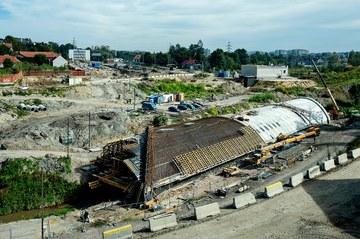 Deskowania ULMA na budowie Trasy Łagiewnickiej w Krakowie