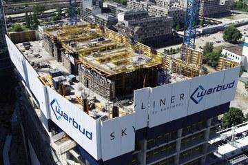 ULMA na budowie Skylinera - jednego z najwyższych budynków w Warszawie