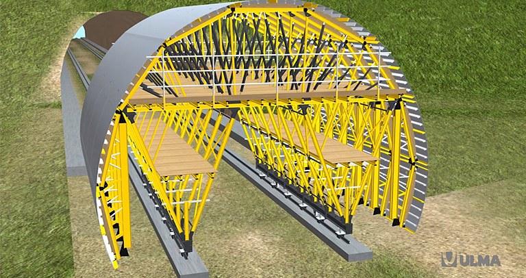 Wózek MK do tuneli wykonywanych metodą górniczą